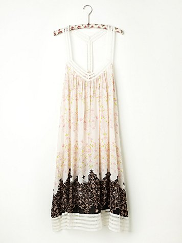 Printed Voile Lace Slip