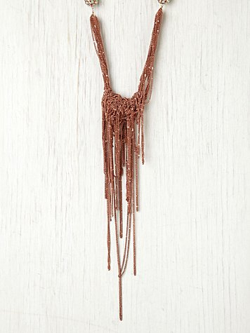 Rose Fringe Collar