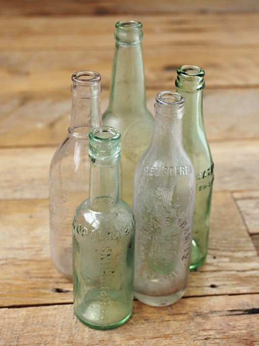 Vintage Medium Glass Bottle