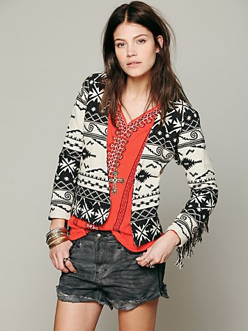 Ikat On The Fringe Jacket