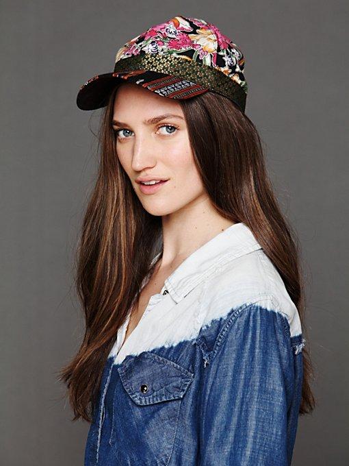 Ikat Embroidery Baseball Hat