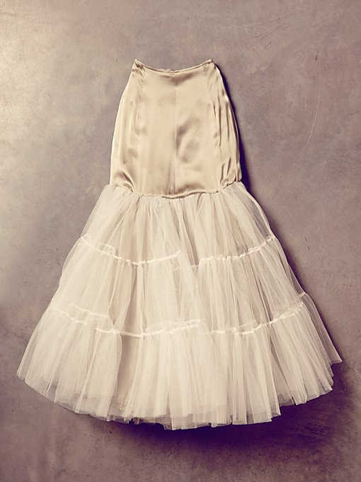 Vintage Satin and Tulle Skirt