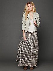 Janus Plaid Maxi Skirt