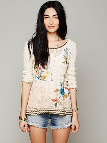 Hooded Embroidered Pullover