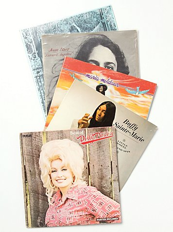 "Vintage ""The Soft Chicks"" Collection of Records"