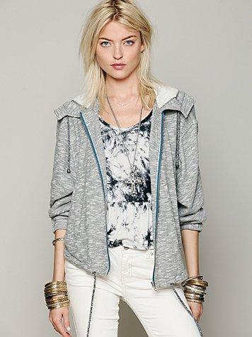 Knit Hooded Drippy Jacket