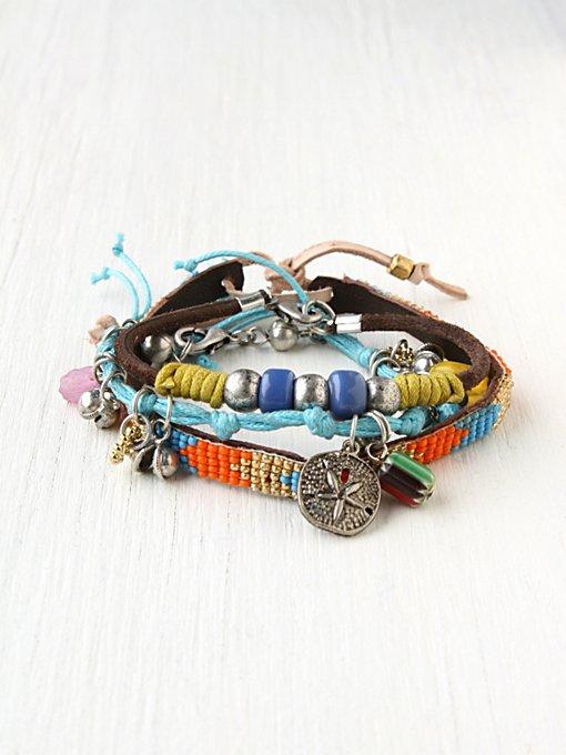 Charm and Bead Bracelet Set