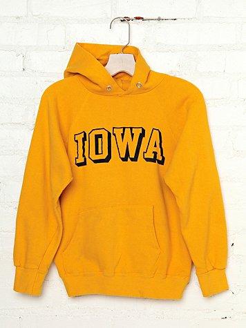 Vintage Iowa Hooded Sweatshirt