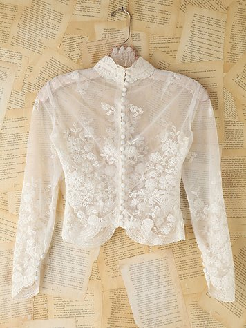 Vintage Sheer Lace Top