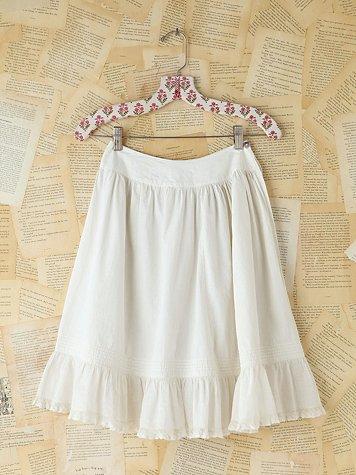 Vintage White Cotton Skirt