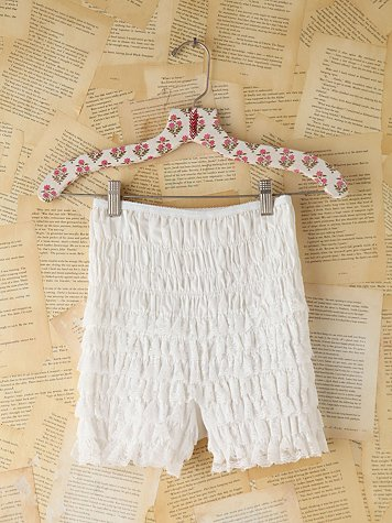 Vintage White Lace Ruffled Bloomers