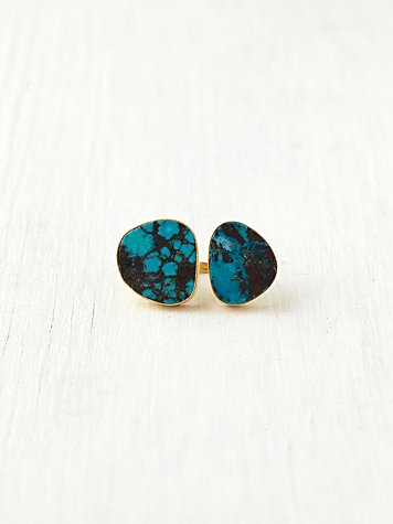 Double Turquoise Lagoon Ring