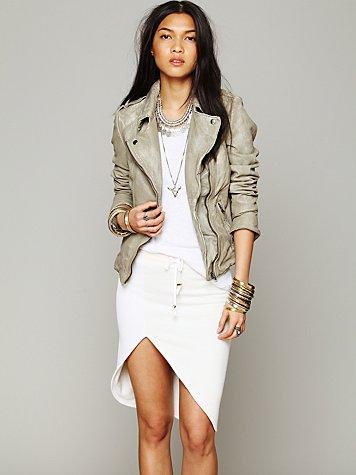 French Terry Slit Skirt