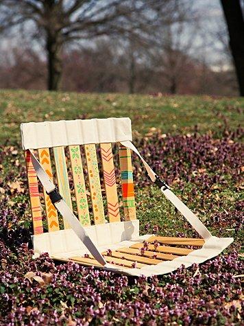 Handpainted Folding Chair