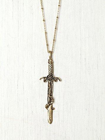 Crimson Cross Necklace