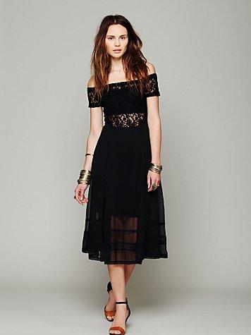 Raven Off The Shoulder Dress