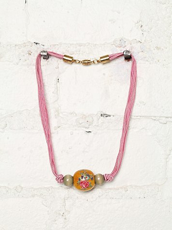 Vintage Bead and Chord Necklace
