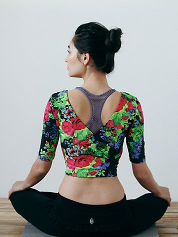Printed Ballet Crop Top