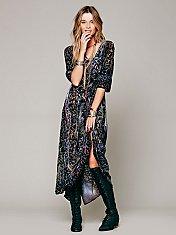 Country Fair Velvet Dress
