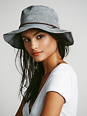 Suede Floppy Hat