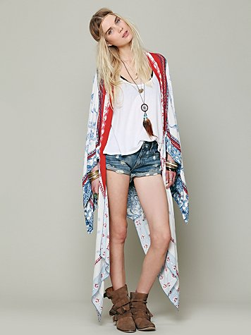 Printed Duster Scarf