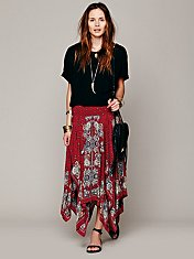 Printed Fly Away Skirt