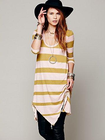 Stripes And Trapeze Dress