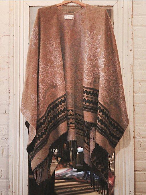 Border Tapestry Poncho