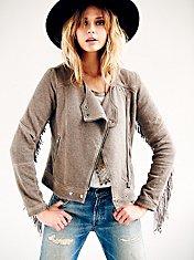 Fringe Moto Knit Jacket