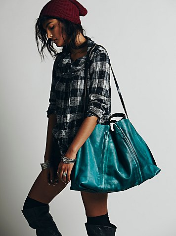 Dip Dye Leather Tote