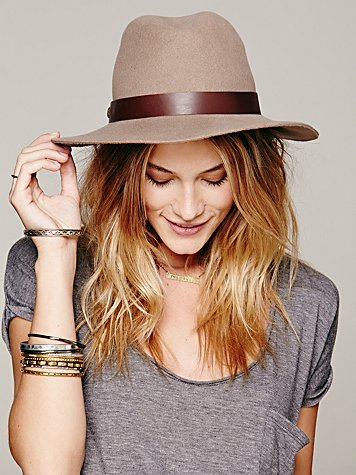 Leather Banded Floppy Hat
