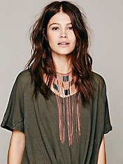 Remi Super Fringe Statement Necklace