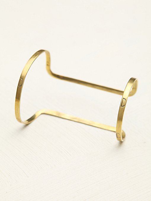 Etched Double Band Cuff