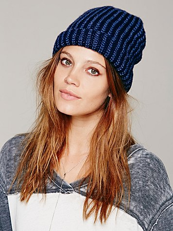 Two Toned Sailor Cap Beanie