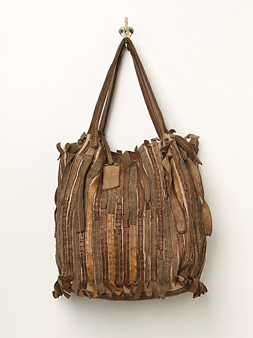 Pieced Leather Tote
