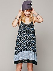 Placed Printed Halter Dress
