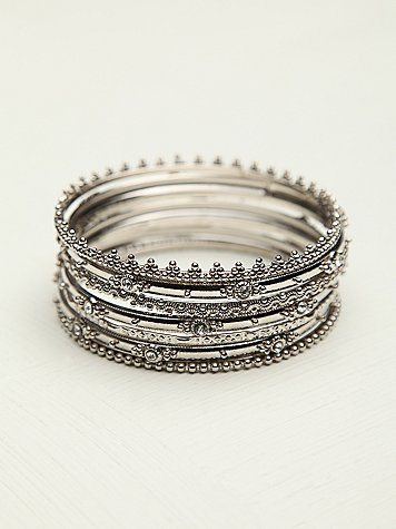 Crystal Hard Bangle Set
