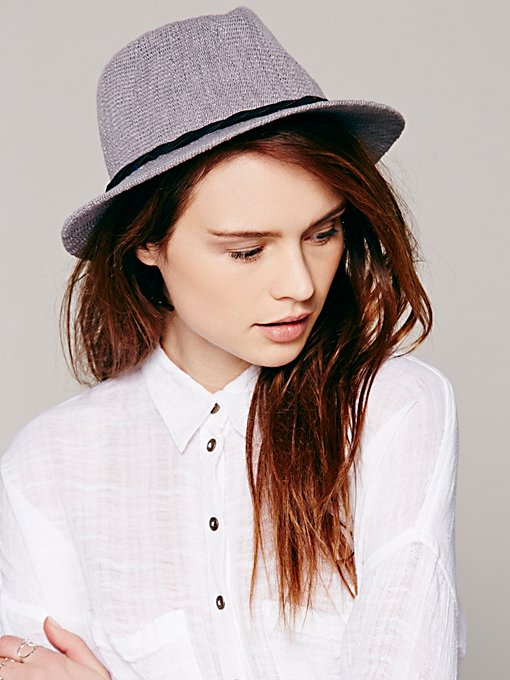 Crochet Canvas Short Brim Hat