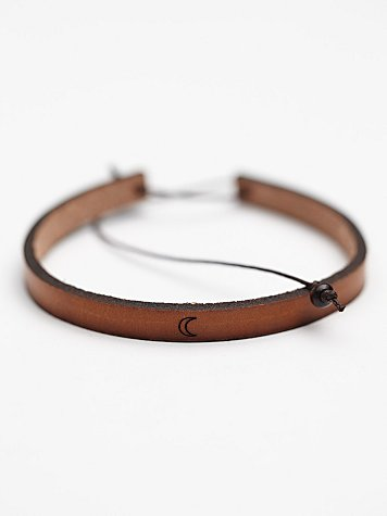 All in a Word Leather Bracelet
