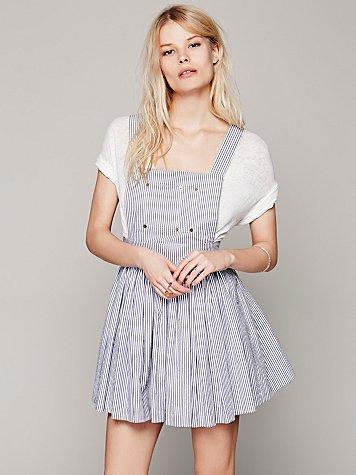 Candy Striper Overall Dress