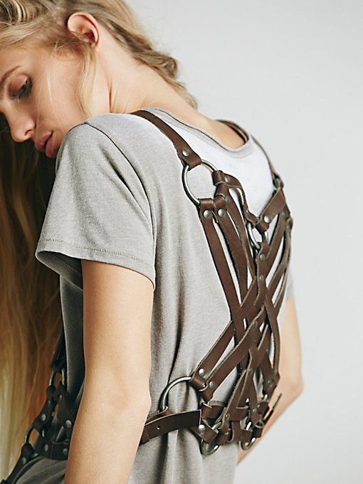 Leather Harness Vest