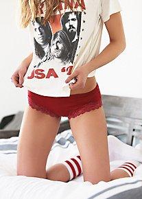 Cotton Lace Trim Hipster
