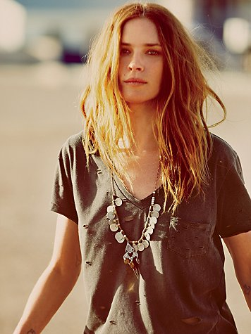 Long Coin Layering Necklace