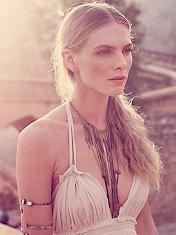 Chloe Long Beaded Fringe Necklace