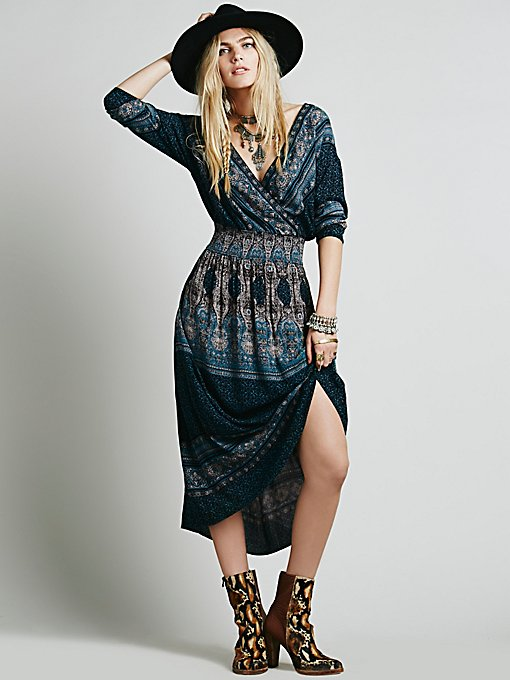 She's a Lady Printed Dress