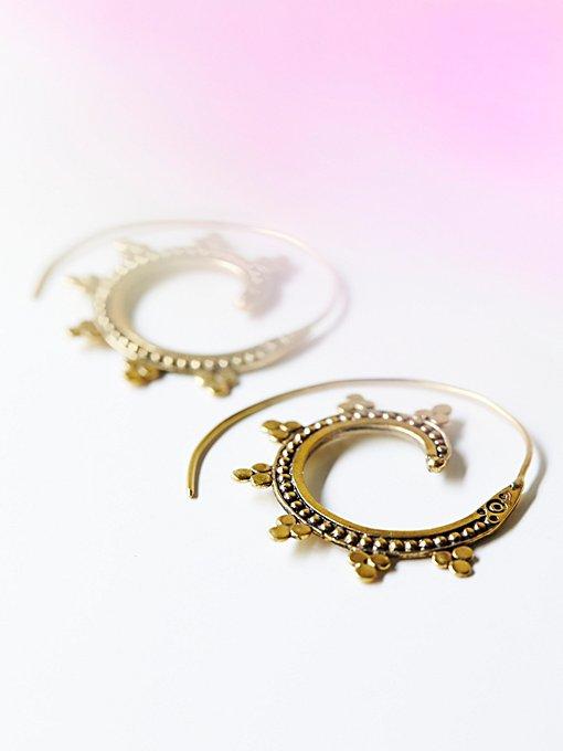 Tribal Swirl Earring