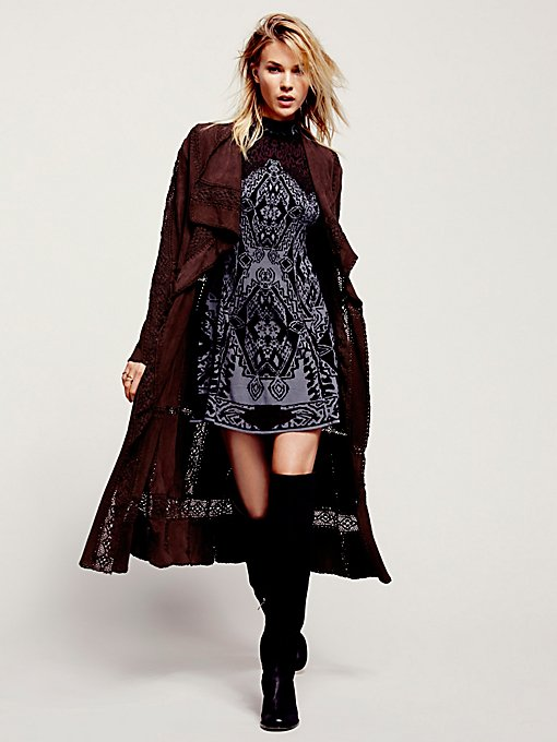 Honey Moon Suede Duster