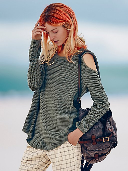 Sunset Open Shoulder Pullover