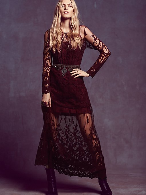 Decadent Embroidered Maxi Dress