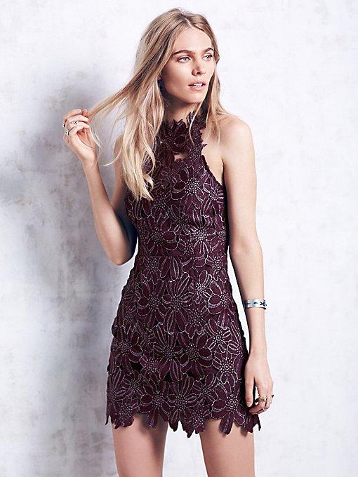 Jessa Foil Lace Dress